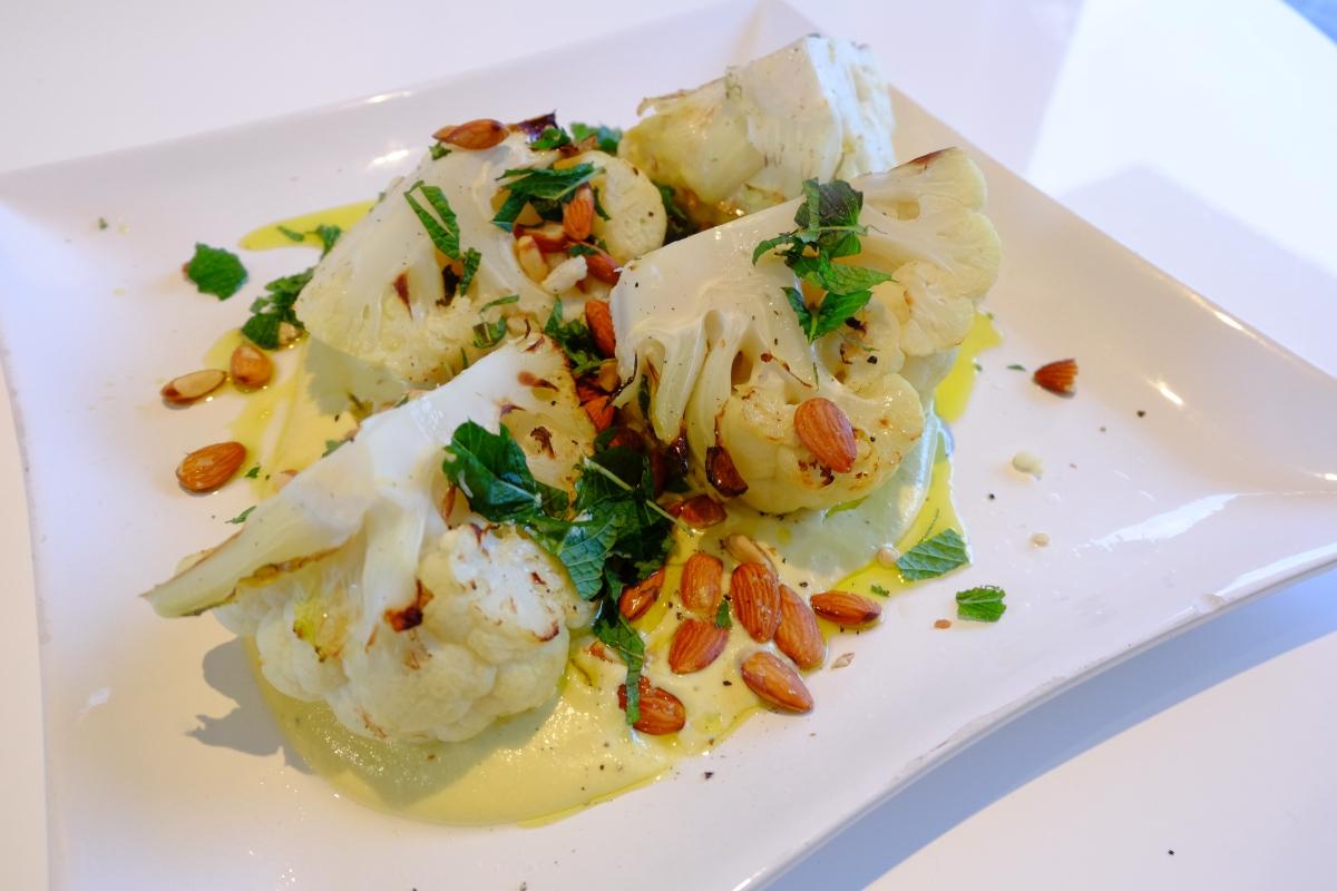 Roast Cauliflower with Almond Sauce
