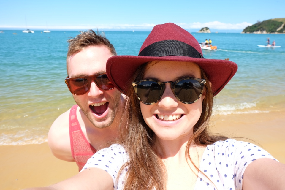 Selfie at Kaiteriteri beach
