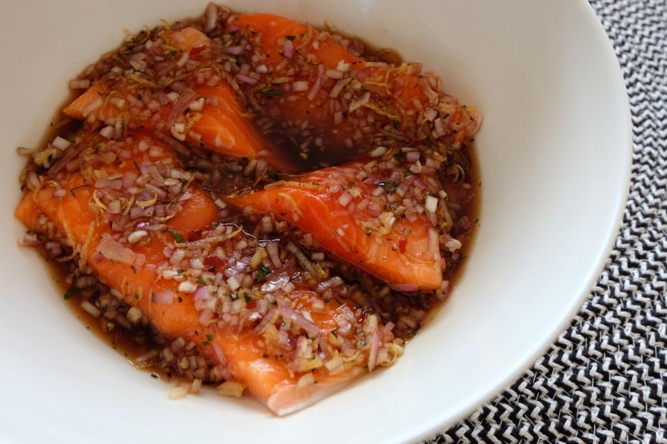 sticky chilli salmon