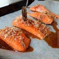 Roasted Sticky Chilli Salmon