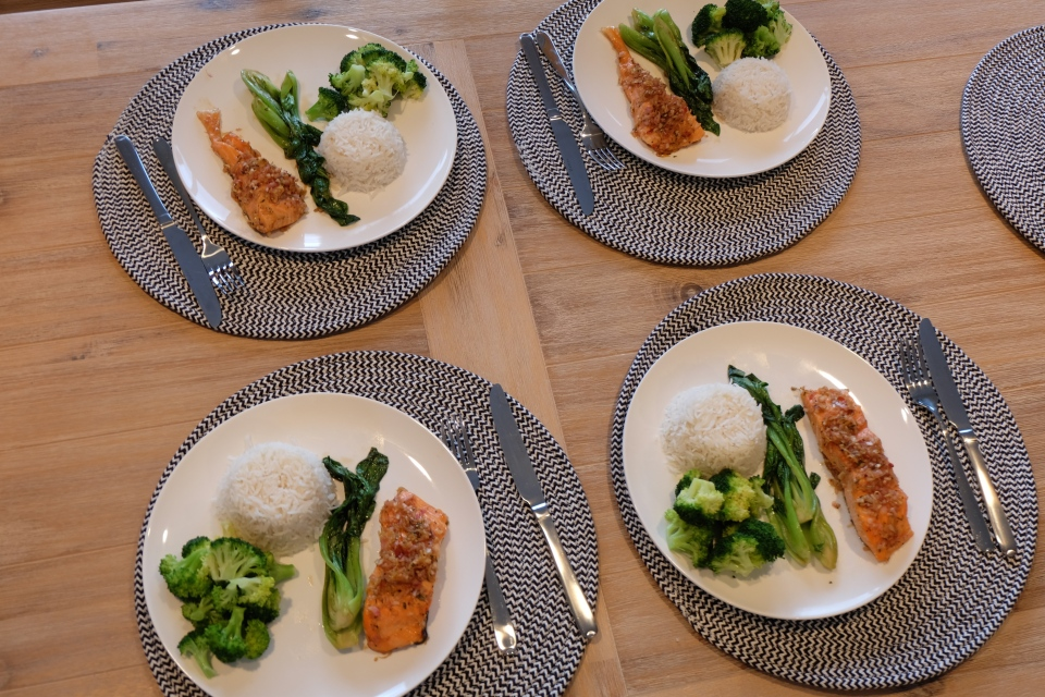 sticky chilli salmon